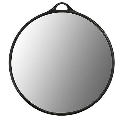 Crisnails® Espejo de Mano Profesional para Peluquería, Barbería, Belleza, Estética, Salón, Tatuaje, Diseño Ergonomío, Varios Modelos, Color Negro ...