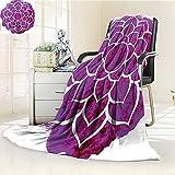 AmaPark Digital Printing Blanket Lotus Flower Yoga Meditation Zen Boho Style Painbrush Fuchsia White Summer Quilt Comforter