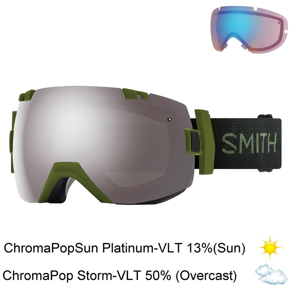 a45a60aa8c Amazon.com   Smith Optics I Ox Adult Snow Goggles - Cloudgrey Chromapop Sun  Platinum Mirror   Sports   Outdoors