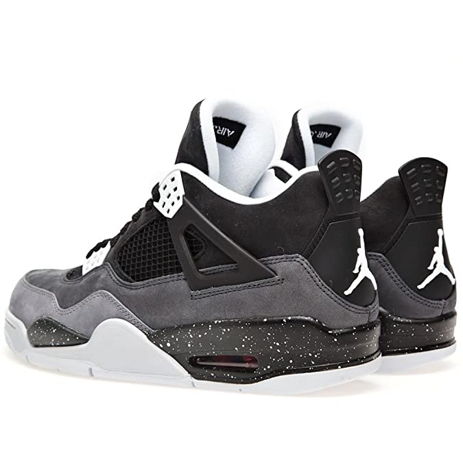 4cc470f4d2f Amazon.com | Nike Mens Air Jordan 4 Retro Fear Pack Black/Cool Grey Suede  Basketball Shoes Size 11 | Basketball