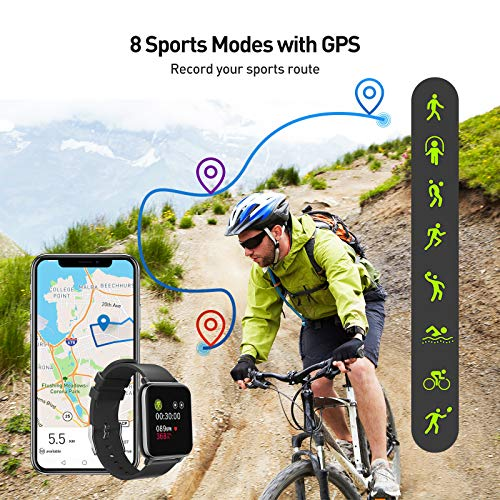 Smart Watch, Fitness Tracker with IP67 Waterproof, Heart Rate Monitor, Sleep Monitor, Smart Band, Step Counter,1.4 Inch… 2