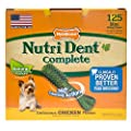Nylabone Nutri Dent Complete Dog Treat Bones for Petite Dogs up to 15 Pounds