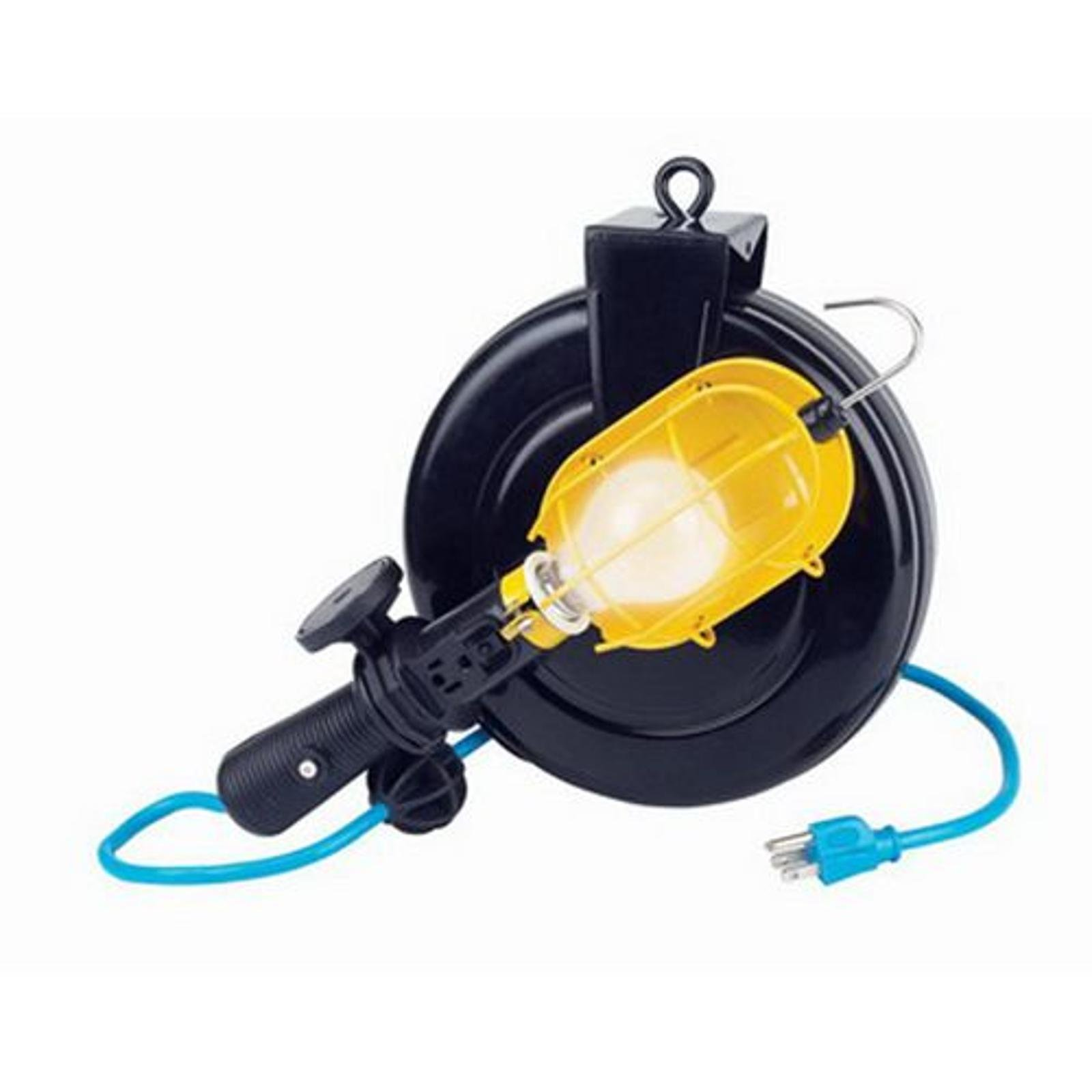 Craftsman Incandescent Work Light with 30 ft. Retractable Reel with Steel Enclosure 83913