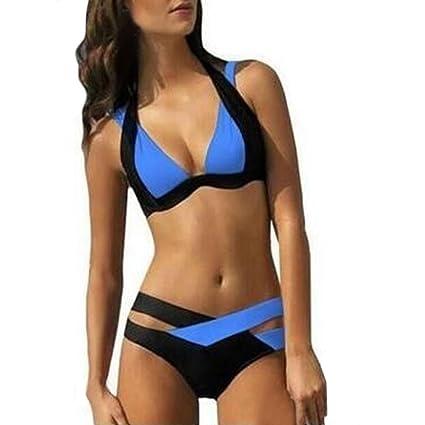 Bañador de Baño Mujer Sexy Traje de Baño Mujeres Swim Beach Vestir ...