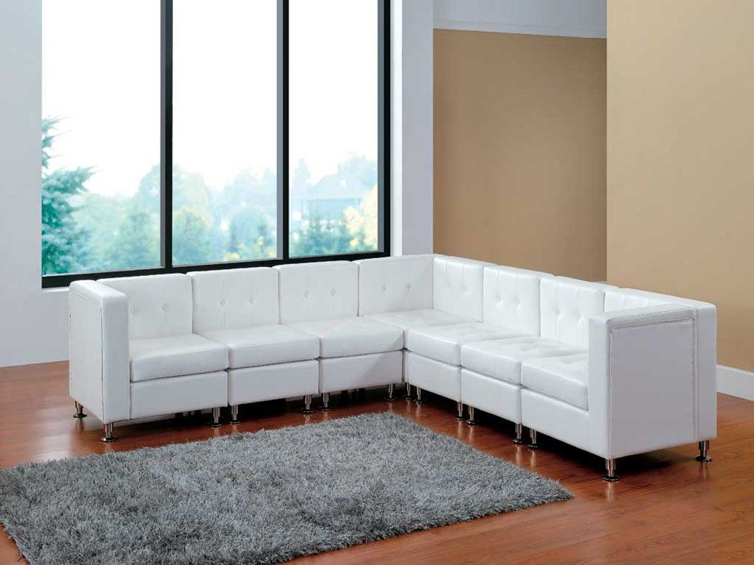 Amazon com modern line furniture 9049w g7 modular leather l shape sectional sofa set with restaurant bar nightclub hospitality furniture white pack of