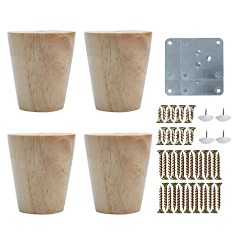 Sourcingmap - Patas redondas de madera para muebles, sofás ...