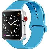 ZRO para Apple Watch Correa, Silicona Suave Reemplazo Correo de Sport Banda para 38mm iWatch