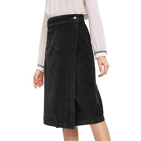 Wawer_Rock - Falda para Mujer (Larga, Elegante, elástica, con ...