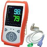 Handheld oxymètre de pouls - Finger - Portable - SpO2 Moniteur de fréquence cardiaque - oxygène dans le sang numérique et le capteur d'impulsions Mètres avec alarme - Home et Professional - Lectures rapides du doigt-bout des doigts - avec des adultes Probe - La qualité de conception - Best Value - Big TFT