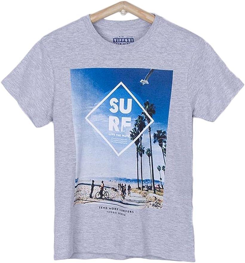 Tiffosi Camiseta Niño Gabriel Gris 5 Gris: Amazon.es: Ropa y accesorios
