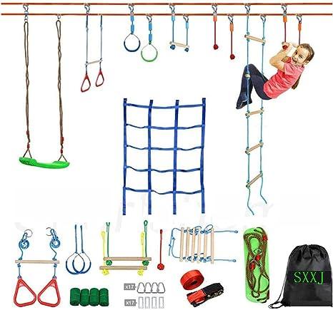 SXXJ Carrera de obstáculos Ninja Warrior para niños - 50 pies ...