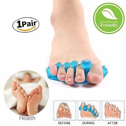 Gel Separador de Dedos, Morbuy 1 Par Silicona Dedos Aliviar el Dolor Después del Yoga