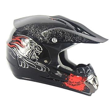WZFC Casco Motocross Eduro Homologado Casco De Moto Cross Integral para Mujer Hombre Adultos (Modelo