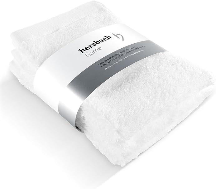 Herzbach Home - Juego de 3 toallas de mano de 30 x 50 cm, algodón egipcio: Amazon.es: Hogar
