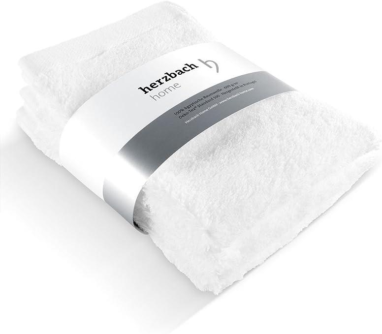 herzbach Home - Juego de 3 toallas de mano (30 x 50 cm, algodón ...