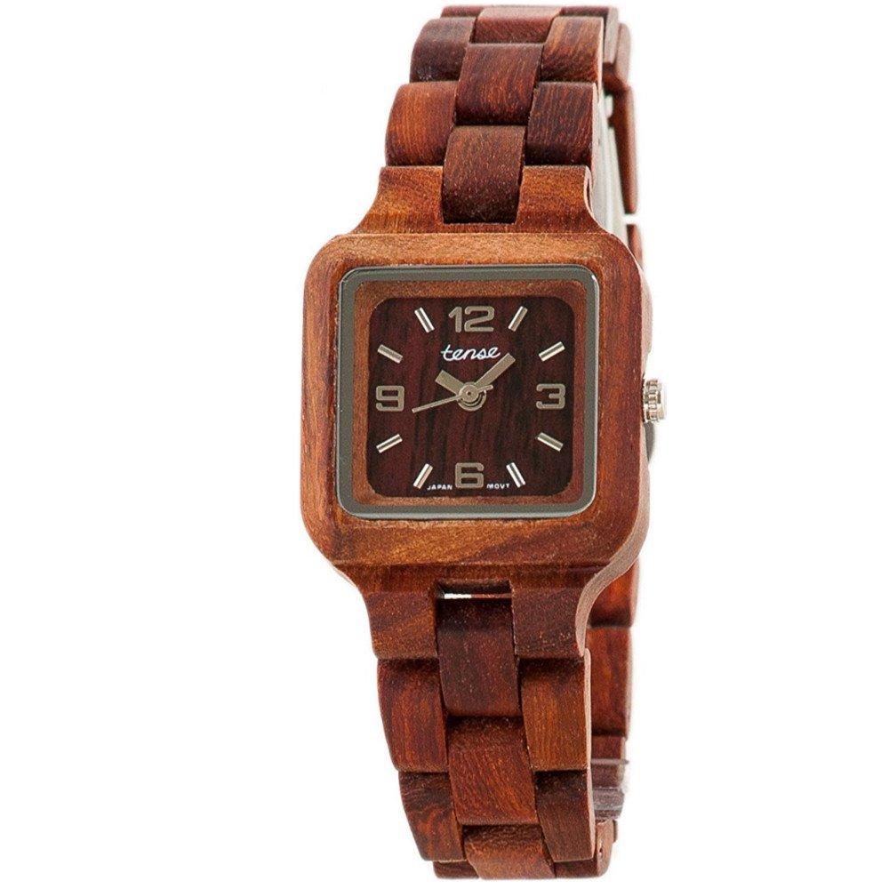 1c51ad31a69 Amazon.com  Tense Wood Watch Mini Summit Brown - L7305SR  Watches