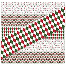 24 CHRISTMAS Labels for Bottled Water, 100% WATERPROOF and Easy to Apply (Christmas Wrapping Paper)