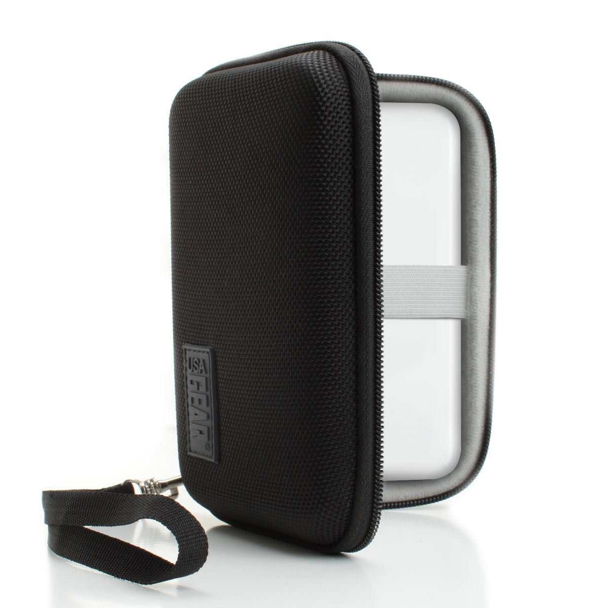 USA Gear Portable Photo Printer Carrying Case Travel Bag with Hard Shell Design and Wrist Strap for Polaroid Zip Mobile Printer, LG PD241T and More Pocket Photo Printers
