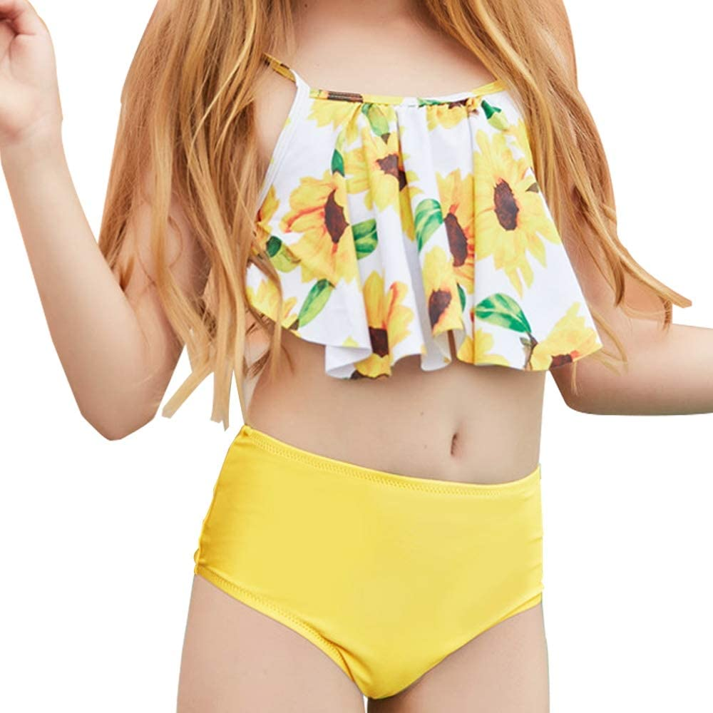SOLY HUX Girls 3 Piece Swimsuits Cow Print Bikini Bathing Suit with Shorts