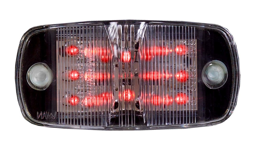Maxxima M23015RCL Red 4'' LED Clear Lens Combination Clearance Marker Light