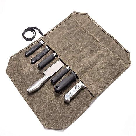 QEES - Bolsa para Cuchillos de Chef con 7 Ranuras, Estuche ...