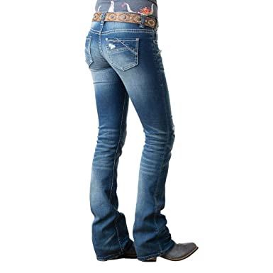 c4d4633067e9 Rock and Roll Cowgirl Women's Rival Bootcut Jeans in Medium Vintage W6-1002