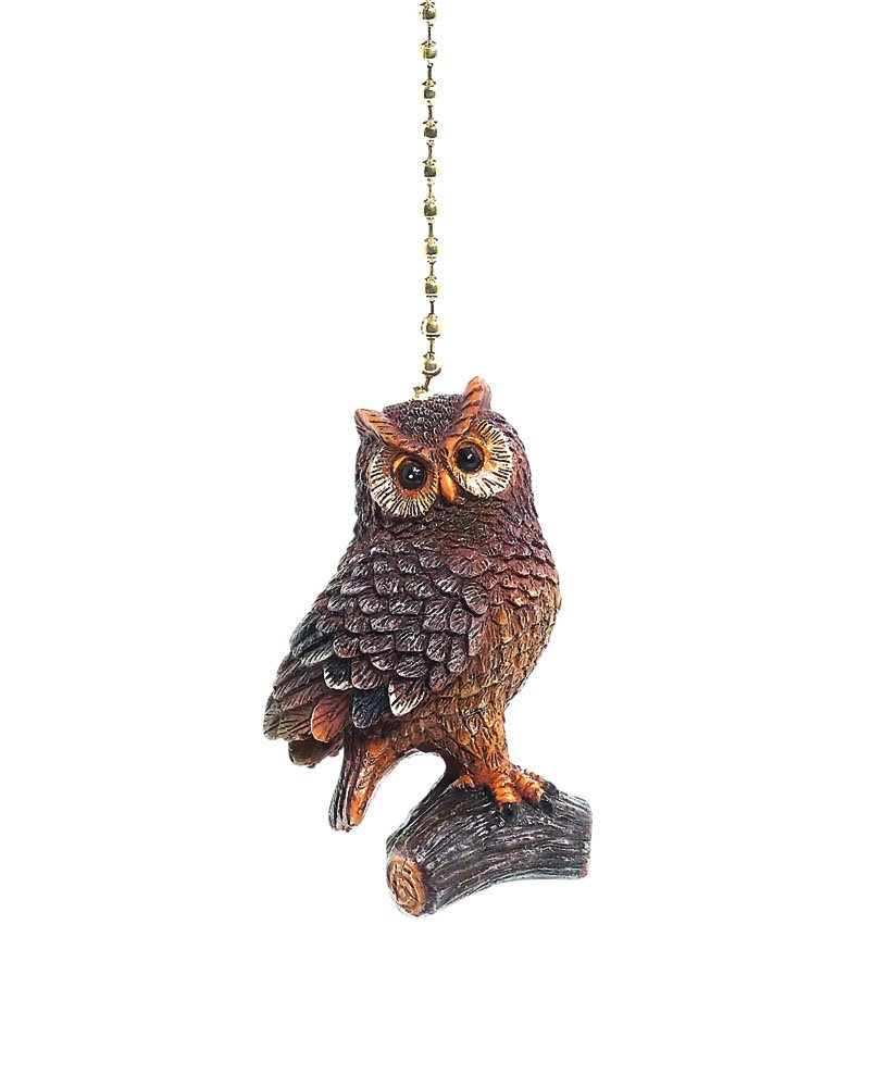 Woodland Owl Fan Pull Decorative Light Chain