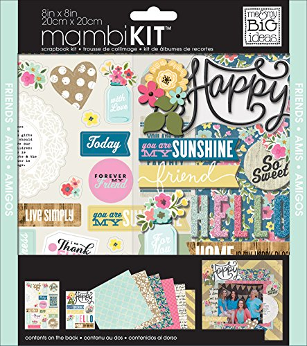 - me & my BIG ideas Scrapbook Page Kit, American Sweetheart, 8-Inch by 8-Inch