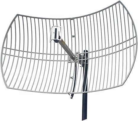 JU FU Antena de 2,4 GHz de Alta Ganancia 24dBi WiFi Red inalámbrica direccional Receptor inalámbrico potenciador de Alta Potencia enrutamiento SMA |