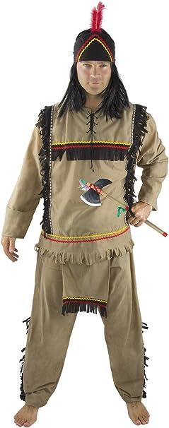 P Tit Payaso 86135 Indio Disfraz para Adultos – Talla S/M: Amazon ...