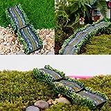 5pcs DIY Mini Resin Highway Pavement Potted Plant Microlandschaf Ornament