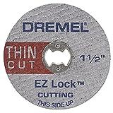 Dremel EZ409 Disco de Corte Delgado 1-1/2 Pulgadas Ez Lock, 5 Piezas