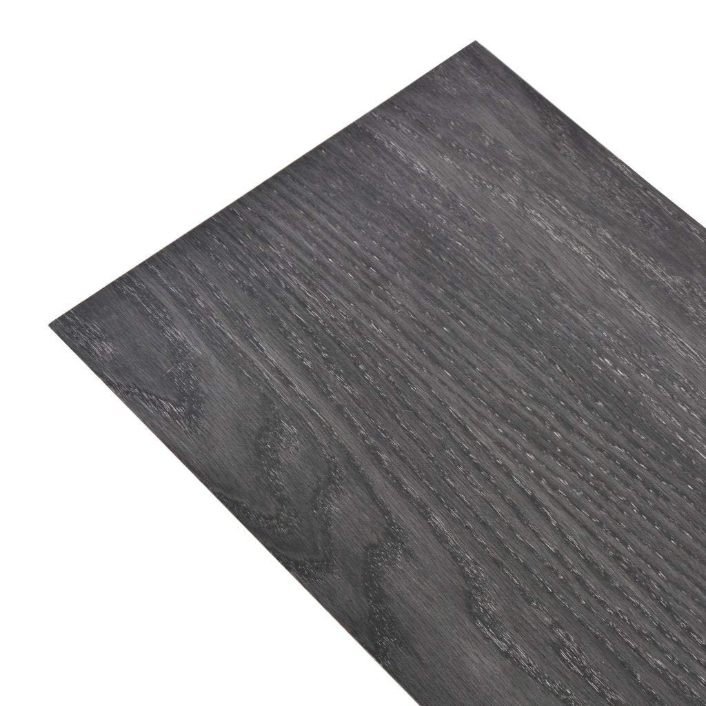 vidaXL 18x L/ámina Suelo 5,26m/² PVC 2mm Marr/ón Mate Baldosa Loseta Tarima Flotante