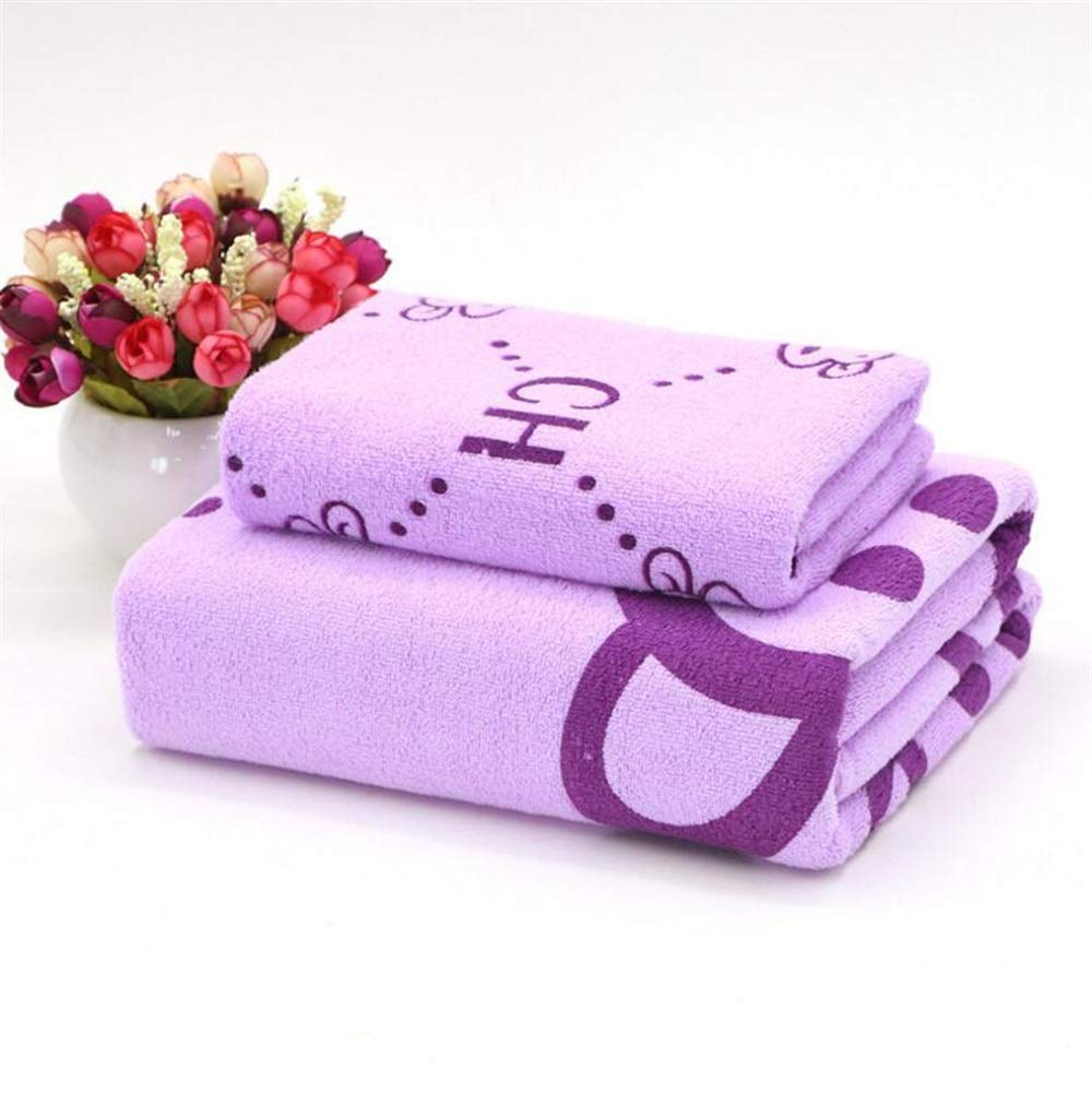 BAOLIJIN Bath Towels Set Dibujos Animados niños Algodón Absorbente Toalla de Playa Patrón de Mono Toalla de Mano Hoja de baño Toallas de baño Set, ...