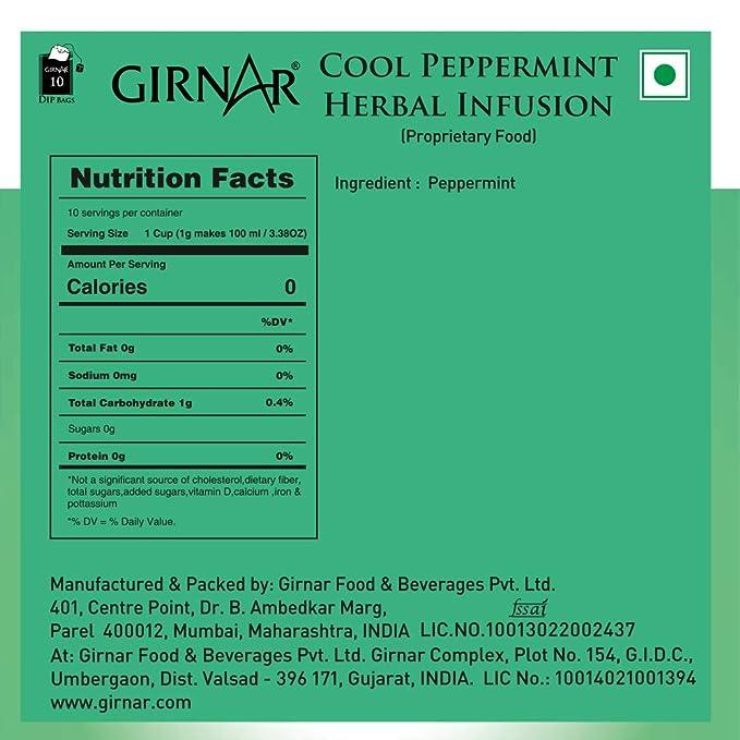 Girnar Cool Peppermint Herbal Infusion (10 Tea Bags)