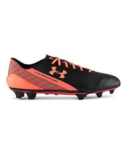 black and orange under armour cleats