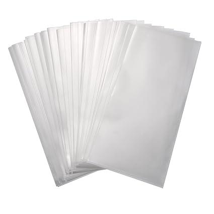 5,1 por 11 Pulgadas de Bolsa de Dulce Transparente Bolsa de Plástico OPP para Favores de Día de San Valentín, Panadería, Dulces, Jabón, Galleta, ...