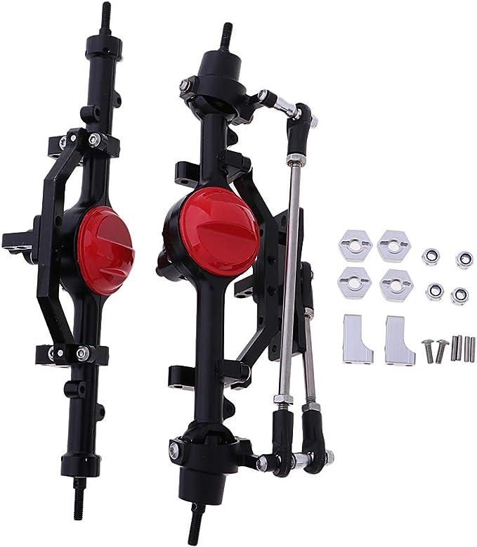 B Blesiya 2 Pcs Rc Car Vorderachse Hinterachse Achsen Achse Für 1 10 Rc Crawler Spielzeug