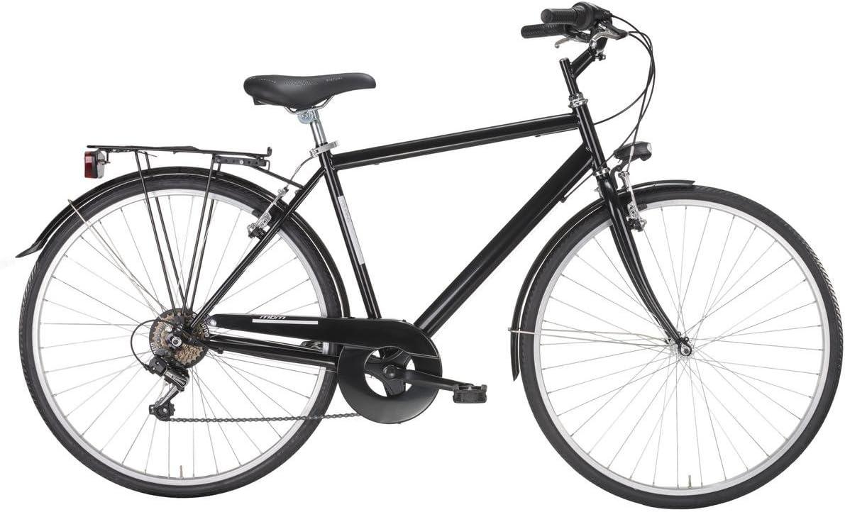 MBM - TOURING - Bicicleta ciudad 28 6s - Negro - Hombre: Amazon ...