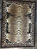 Tiger & Leopard Animal Skin Print Area Rug Print Design #130 (8 Feet X 10 Feet 6 Inch)