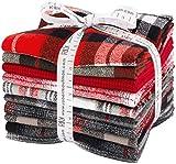 Mammoth Flannel Red 10 Fat Quarters Robert