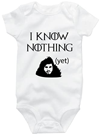 bdcb64295 Amazon.com  I Know Nothing (Yet) Game Of Thrones Jon Snow Cute Funny ...