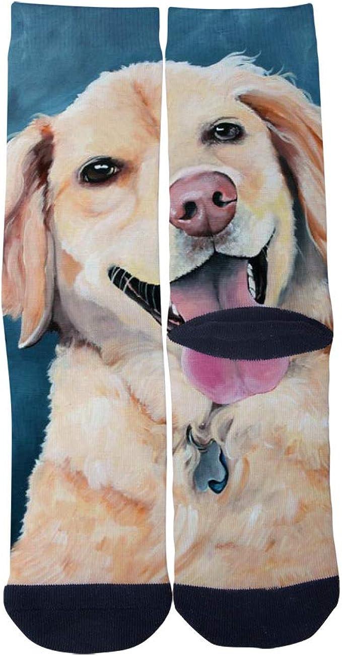 Mens Womens Casual Labrador Retriever Print Socks Crazy Custom Socks Creative Personality Crew Socks