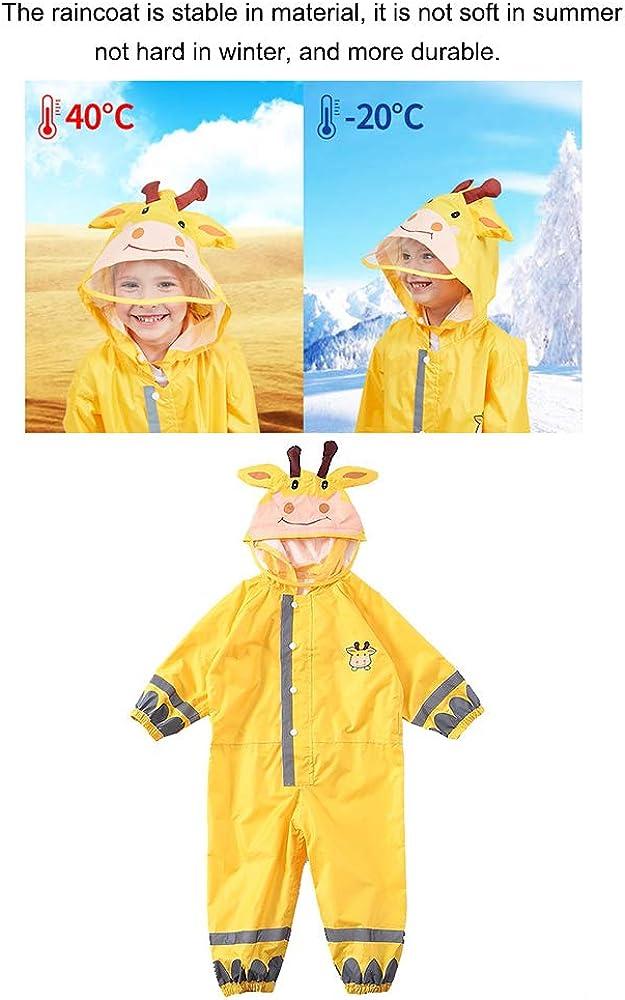 LUCKYSTAR One Piece Rain Suit Kids Full Body Rain Jacket//Pant Coat Muddy Buddy Coverall