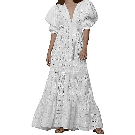 Beikoard Vestidos de Mujer,Vestido de Corte de Encaje con ...