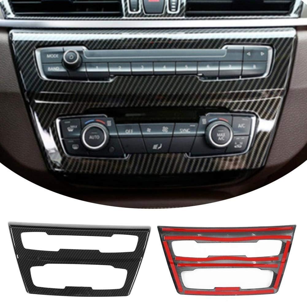 Outbit Schaltpult 1 PC aus Carbonfaser-Mittelkonsole CD-Verkleidung f/ür BMW X1 F48 2016-2019