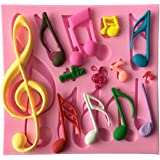 QTMY Music Notation Silicone Decorating Cake Candy Making Molds