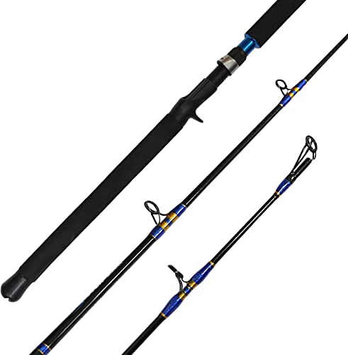 Fiblink Jigging Spinning Casting Rod 1-Piece Saltwater Fishing Jigging Jig Rod 30-50lb 50-80lb,6-Feet,Heavy