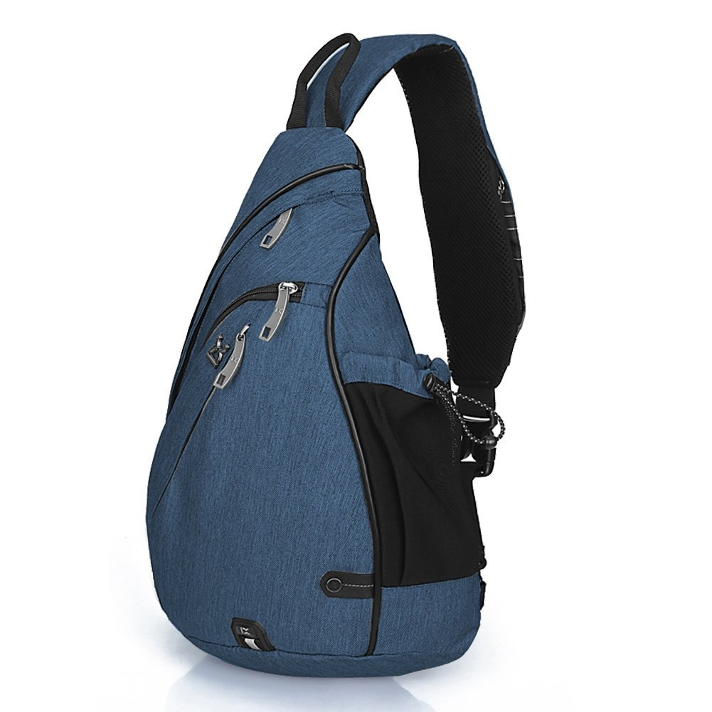 117a8bd734 Amazon.com | Day Sling Backpack Purse with Water Bottle Holder for Women  and Men, Outdoor Crossbody Shoulder Travel Waterproof Chest Sling Bag |  Backpacks