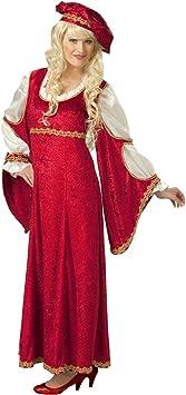 Disfraz dama de la Edad media para mujer de estilo barroco ...
